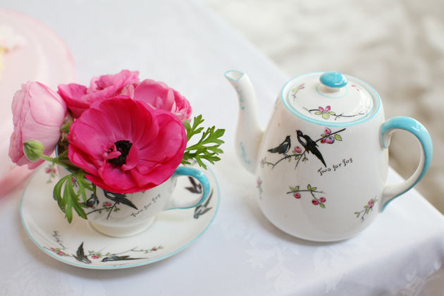 Two for joy teapot and cup | Confetti.co.uk