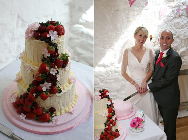 3 tier wedding cake with forest fruit decor | Confetti.co.uk