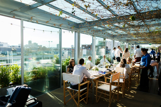 Wedding reception at the Boundary Rooftop Restaurant| Confetti.co.uk