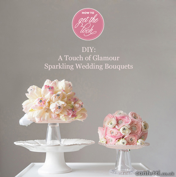 A Touch of Glamour Sparkling Wedding Bouquets