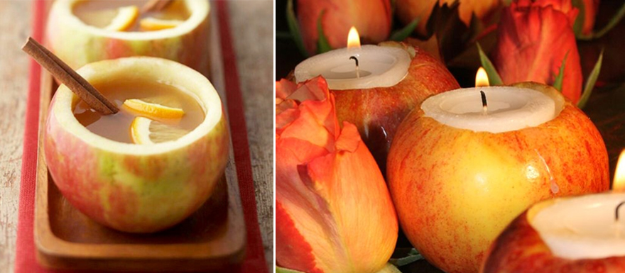 Autumn Apple Drinks and Candles   Confetti.co.uk
