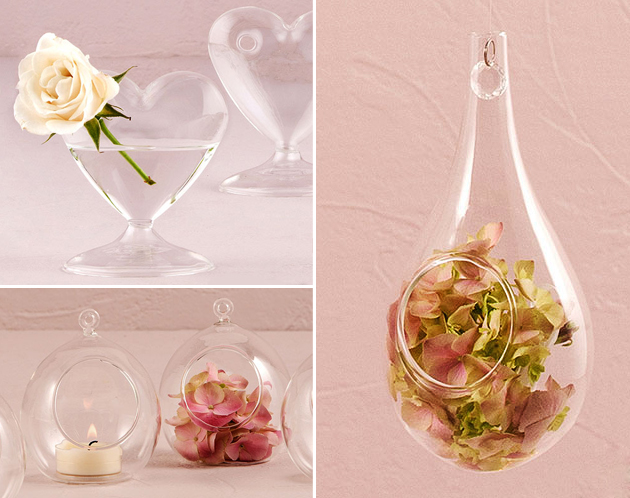 Shaped Clear Glass Vases