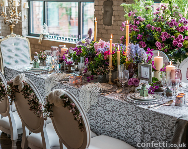 Contemporary Vintage Table Setting