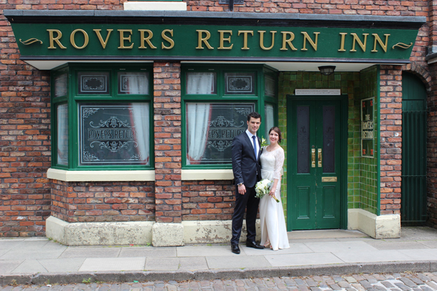 Coronation Street Weddings Outside Rovers Return