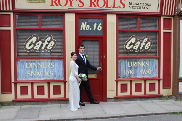 Coronation Street Weddings Outside Cafe