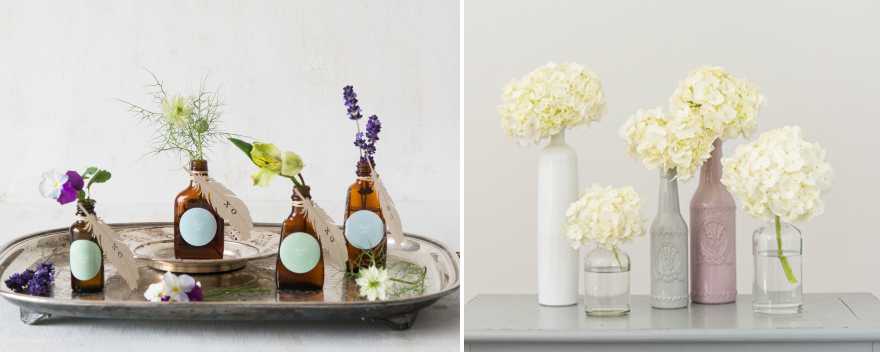 DIY Bottles with Flowers   Confetti.co.uk