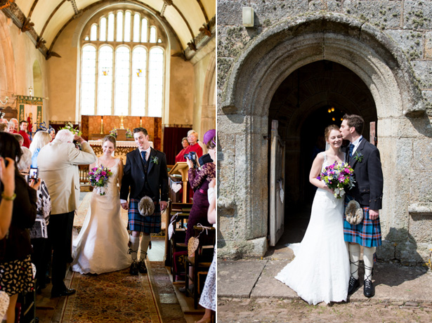 The newlyweds leaving the church | Confetti.co.uk