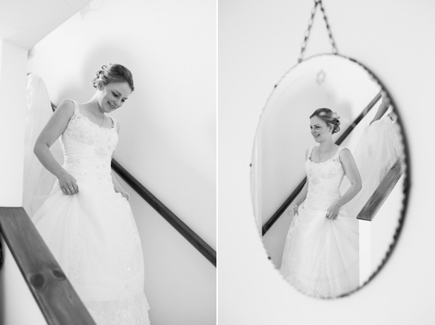 Bride in her lace Mon Cheri wedding dress | Confetti.co.uk
