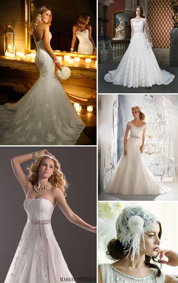 Lace Wedding Dresses by Fross, Elite Bridal and Hoops a Daisy