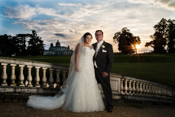 Picturesque Bride and Groom Sunset