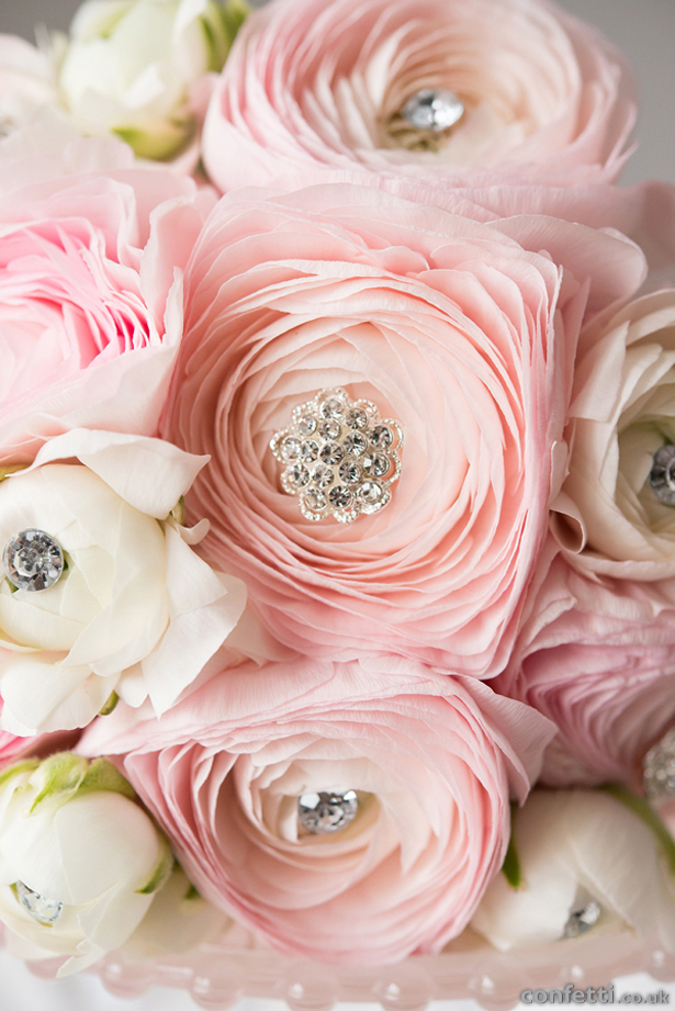 Pale Pink Sparkling Flowers