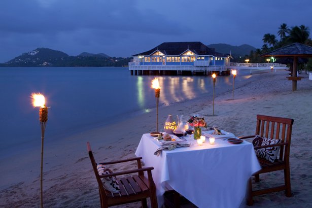 Ideas for a Romantic Getaway - Sandals Halcyon Beach St Lucia | Confetti.co.uk