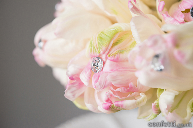 Sparkling Pink and Cream Flower Bouquet
