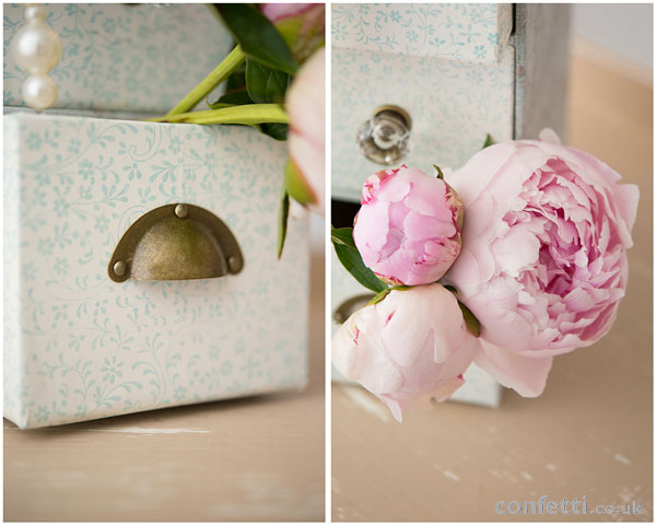 DIY Wedding Friday | Vintage Drawer Tutorial | Peonie Flowers | Confetti.co.uk