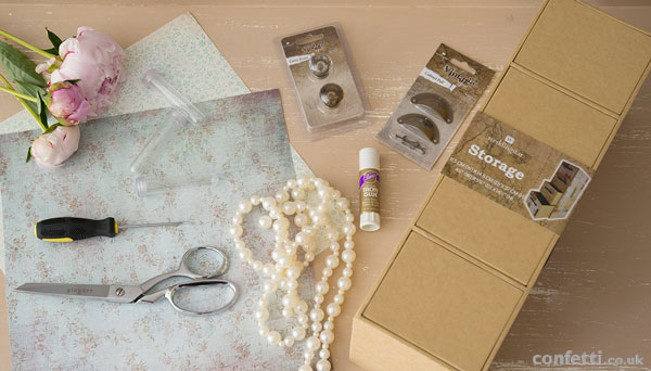 DIY Wedding Friday | Vintage Drawer Tutorial Supplies | Confetti.co.uk