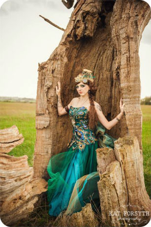 Peacock dress photo by Kat Forsyth