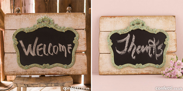 Chalk board decorative signs | Confetti.co.uk