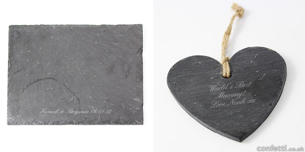 Personalised shaped  grey slate signs | Confetti.co.uk