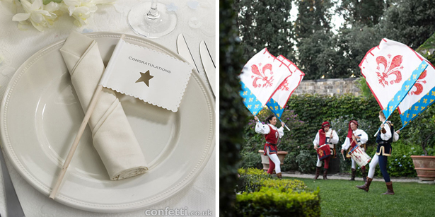 Decorative wedding flags as entertainment and decoration | Confetti.co.uk