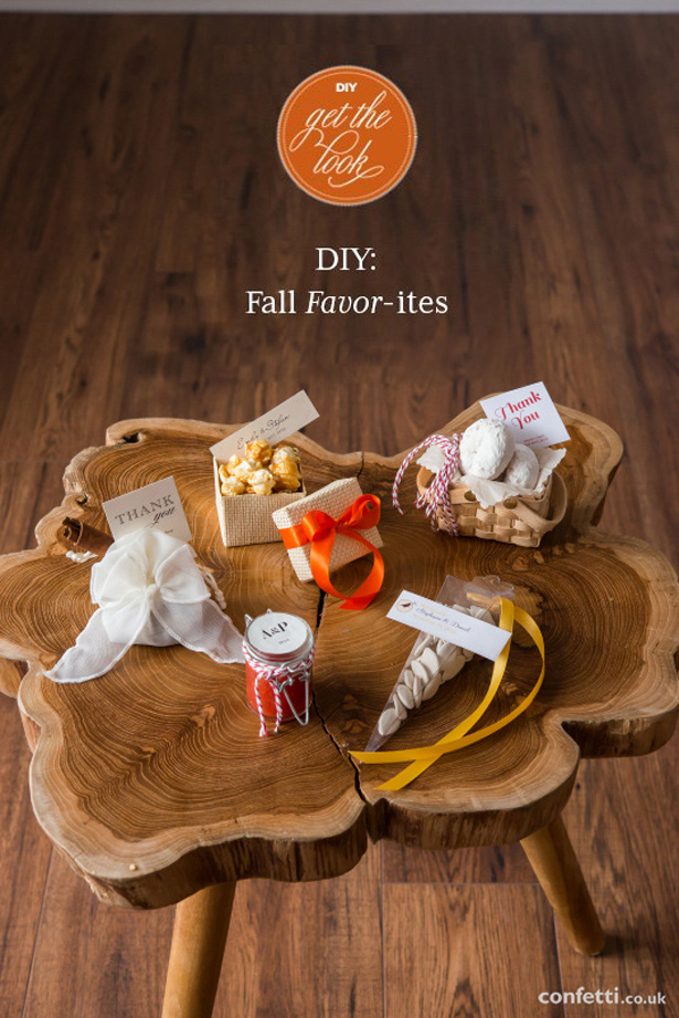 Five edible autumn wedding favours