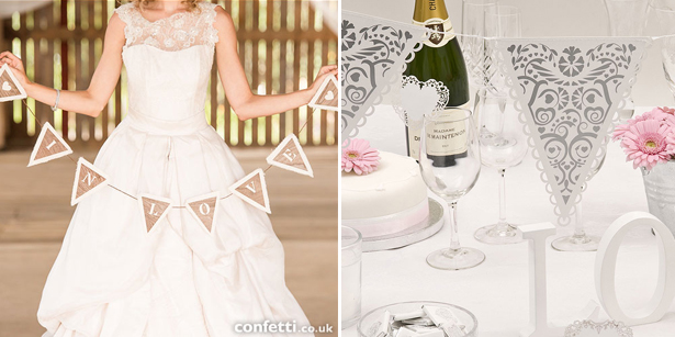 Classic and vintage wedding signs and bunting | Confetti.co.uk