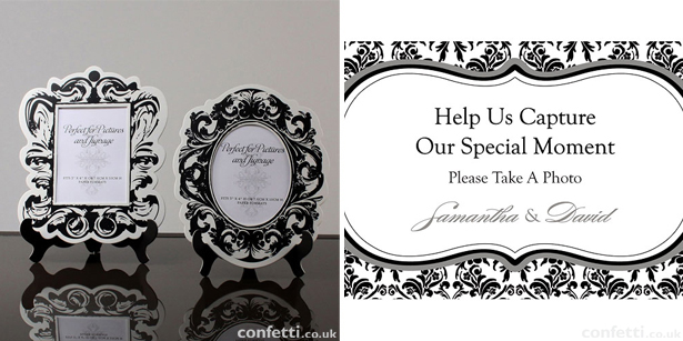 Black and white damask wedding stationery | Confetti.co.uk