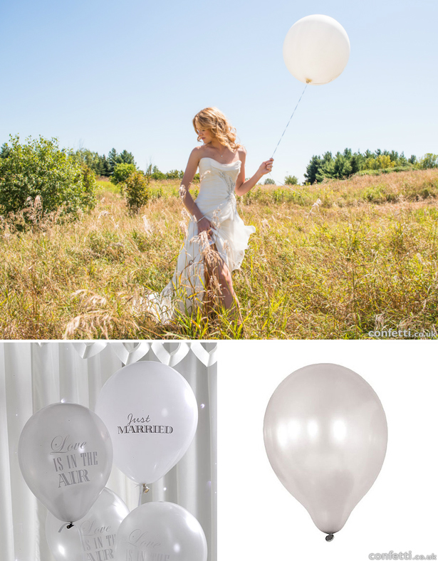 Grey and white wedding balloons | Confetti.co.uk