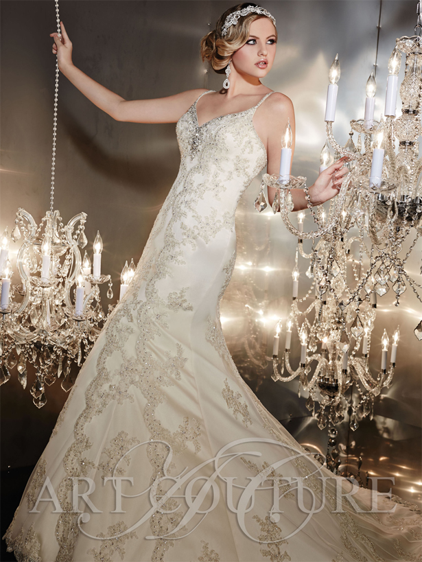 Art Couture Bridal Applique Wedding Dress | confetti.co.uk