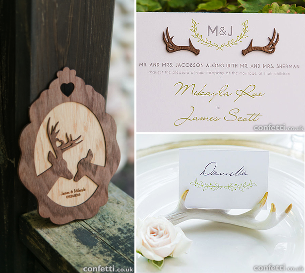 Woodland wedding theme deer and stag stationery and decoration | Confetti.co.uk