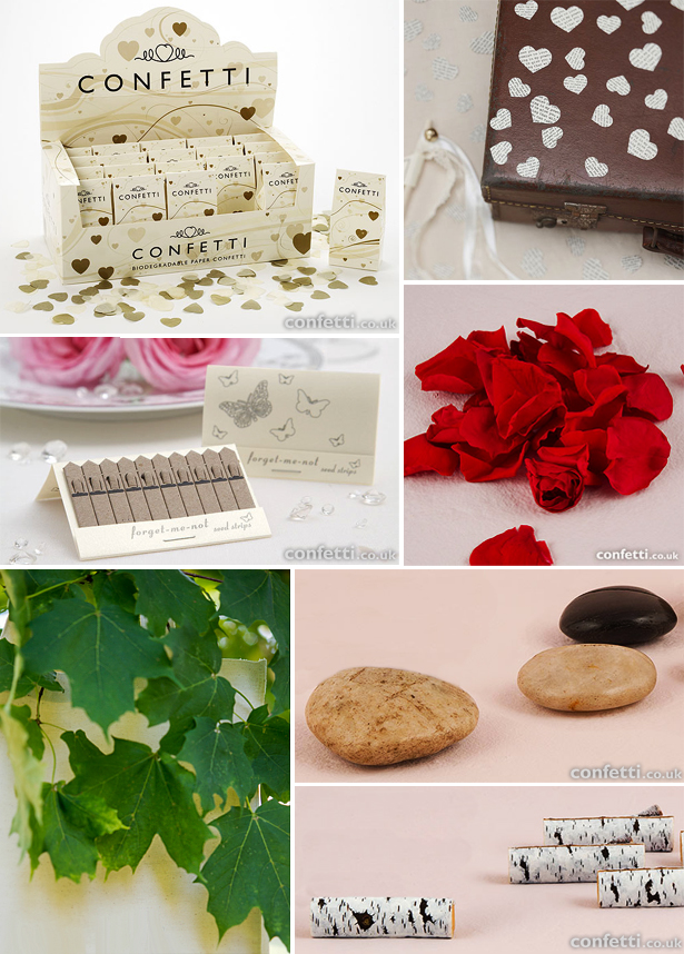 Biodegradable confetti and paper alternatives for weddings | Confetti.co.uk