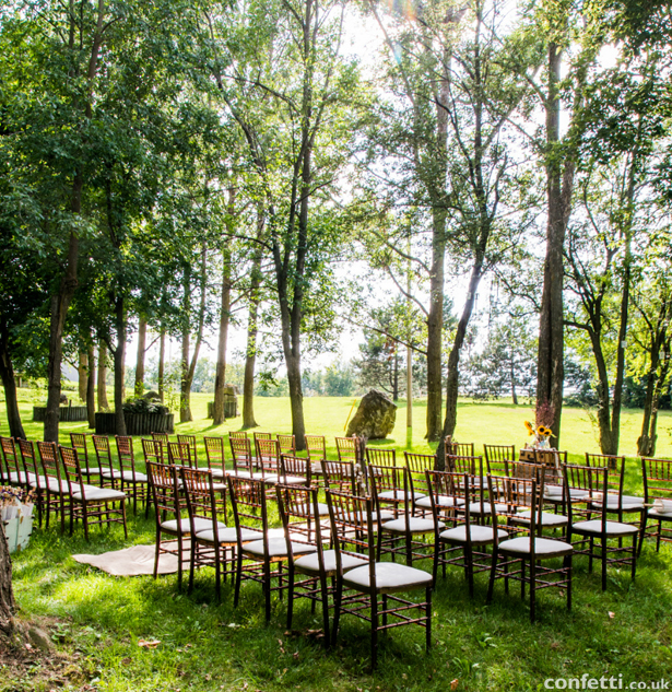 Woodland meadow wedding ceremony decoration | Confetti.co.uk