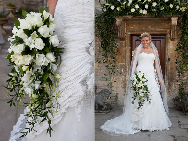 Bridal bouquet inspiration | Cascading white bridal bouquet | Confetti.co.uk