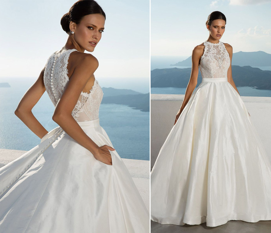 Style 88001 Ball Gown with Lace Bodice by Justin Alexander - Beautiful Lace Wedding Dress | Confetti.co.uk