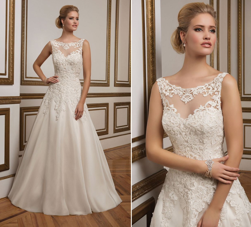Style 8835 by Justin Alexander - Glamorous A-Line Wedding Dress with Sabrina Neckline | Confetti.co.uk