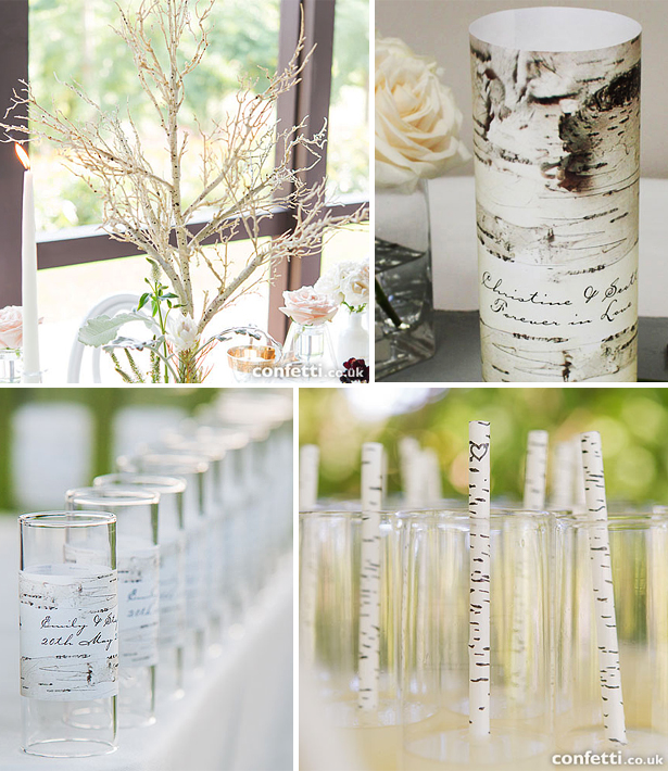 Rustic woodland wedding table centrepieces and decoration ideas | Confetti.co.uk