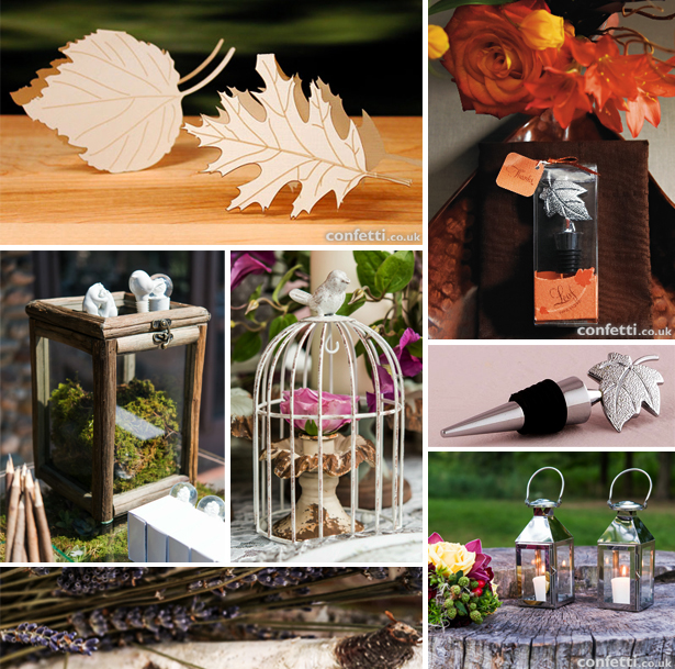 Wedding decoration for woodland and autumn themes | Confetti.co.uk