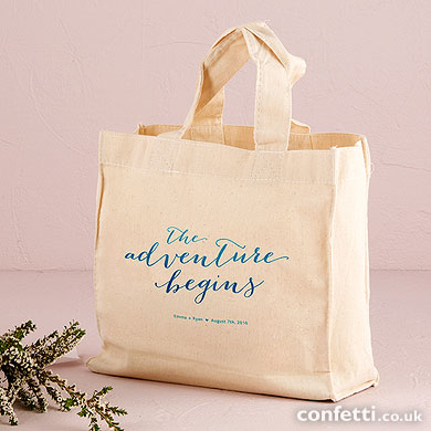 Stash your wedding show goodies in this whimsical tote bag from Confetti.co.uk