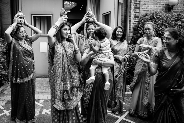 Hindu bridal party waiting for the mosaru | Traditional Indian wedding customs | Confetti.co.uk