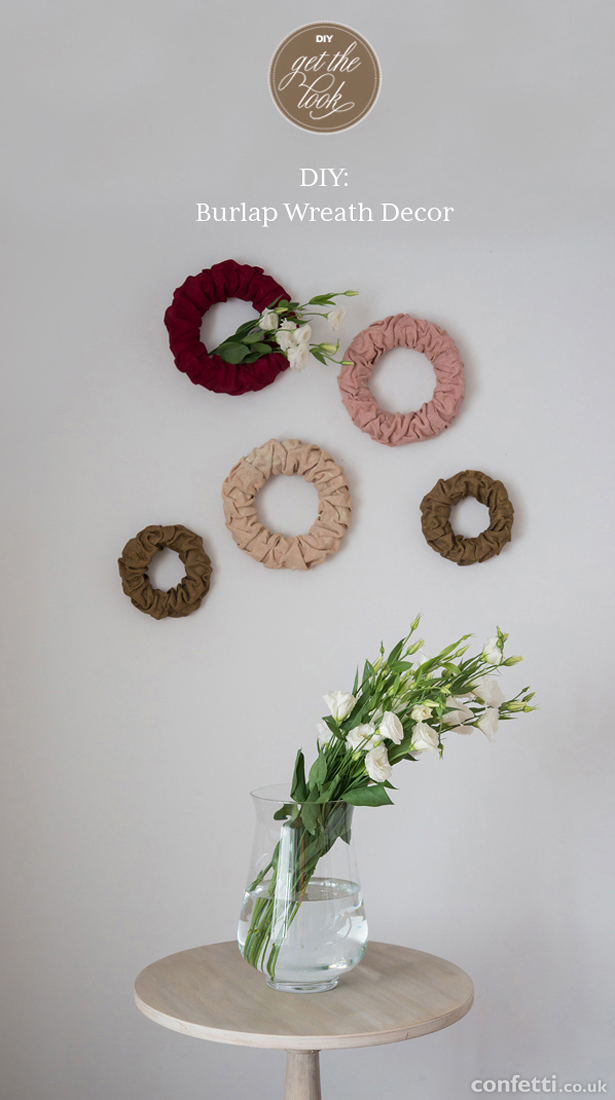 Wedding DIY Decorative Burlap Wreaths | Confetti.co.uk