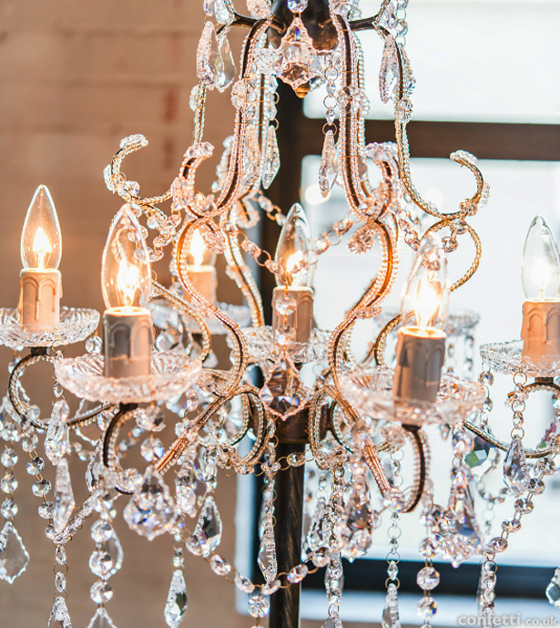 Glamourous wedding crystal chandelier | Confetti.co.uk
