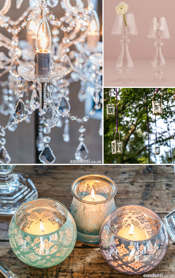 Eco friendly lighting with candles,  candelabras, and lanterns | Confetti.co.uk
