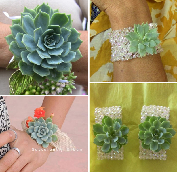 Small wedding succulents as bridesmaid and flower girl corsages   Confetti.co.uk