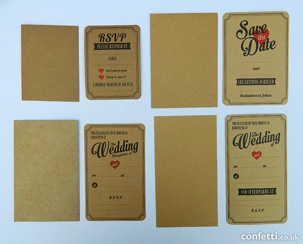 Brown vintage retro wedding stationery | Confetti.co.uk