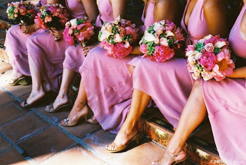 Bridesmaids dresses can be various styles, chosen to flatter their shape. | Confetti.co.uk