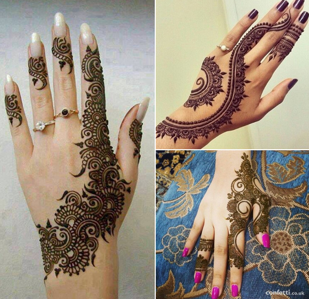 Contemporary Mehndi Patterns |  Mehndi on the back of you hands | Mehndi Idea | Confetti.co.uk