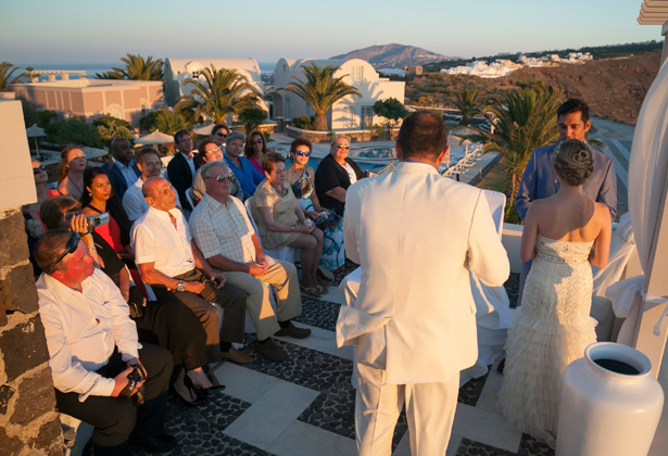 Guests watching the ceremony | Dasha and Steve's Real Wedding In Greece | Marryme in Greece | Confetti.co.uk