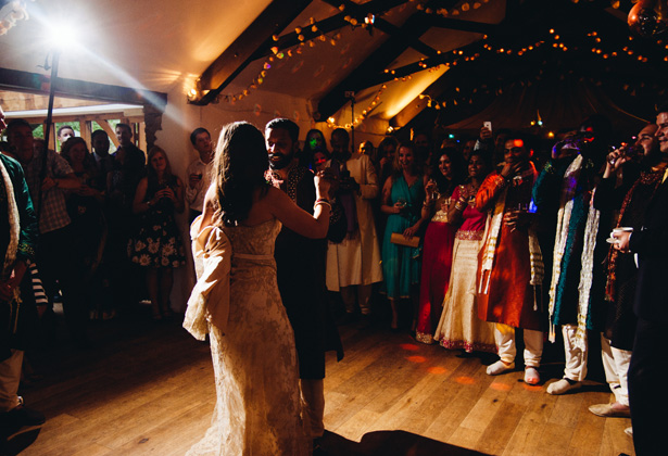 The first dance to Only love by  Ben Howard| Francesca & Arun's Fusion Real Wedding | Confetti.co.uk