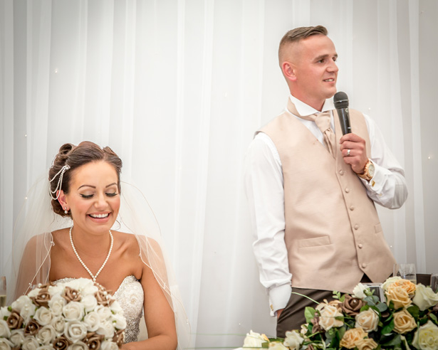 Groom making his wedding speech | Becki and Rob's Real Wedding By Jenny Martin Photography | Confetti.co.uk