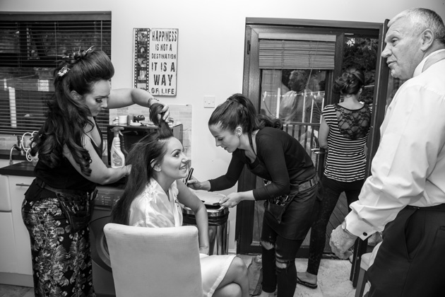 Bride getting ready for her big day   Becki and Rob's Real Wedding By Jenny Martin Photography   Confetti.co.uk