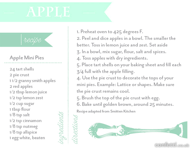 Mini apple pies recipe | Confetti.co.uk